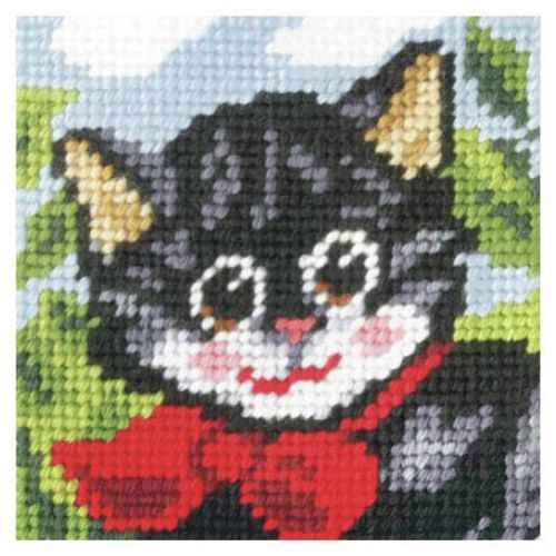 Orchidea Embroidery Kit - Pussy Cat - Needlecraft Kits